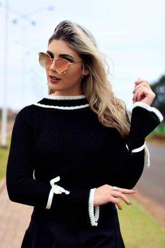 6 Blusas Suéter Inverno Malha Tricot Cardigan KT413