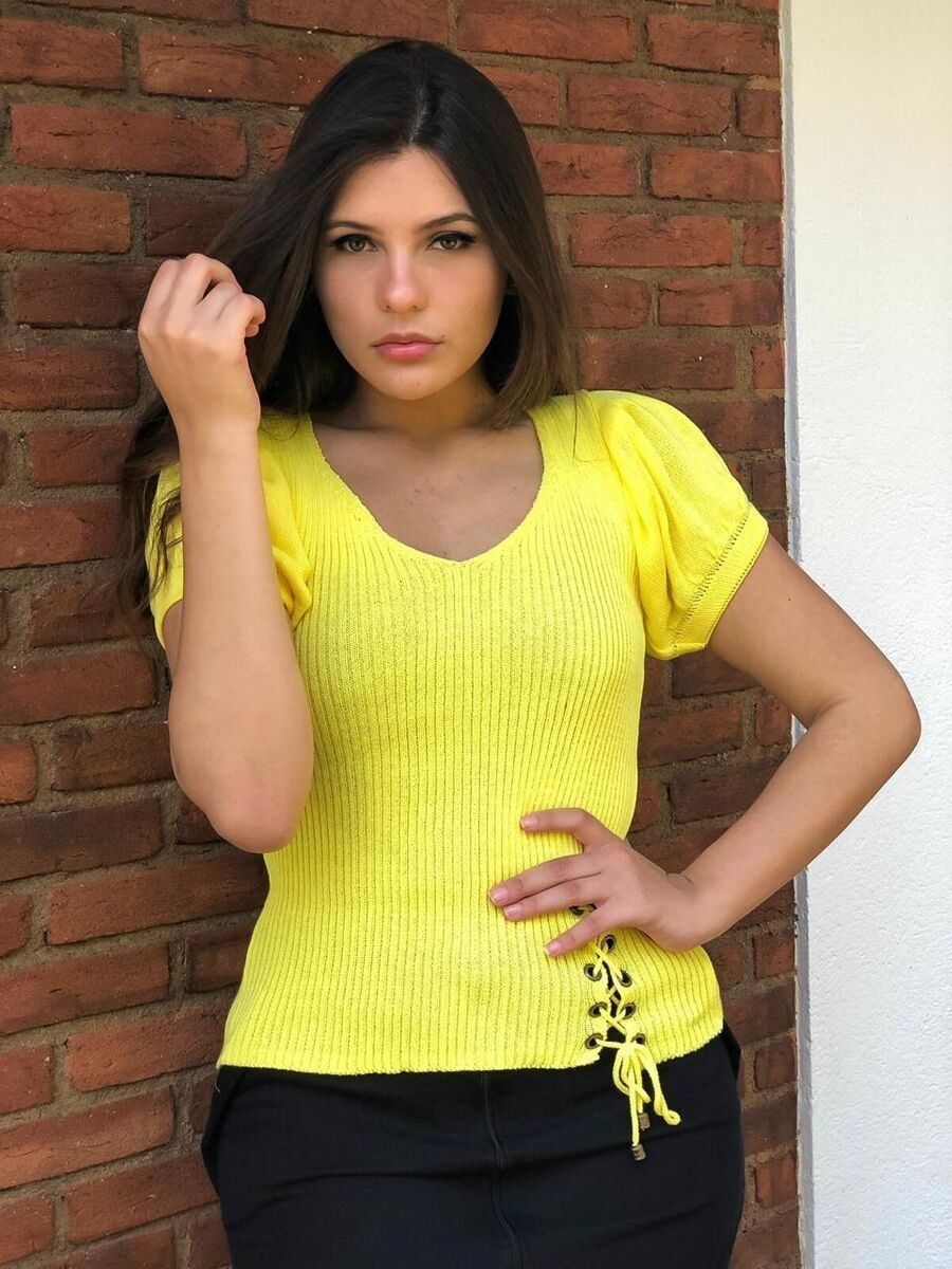 Atacado kit 3  cropped blusinha tricot verão moda feminina