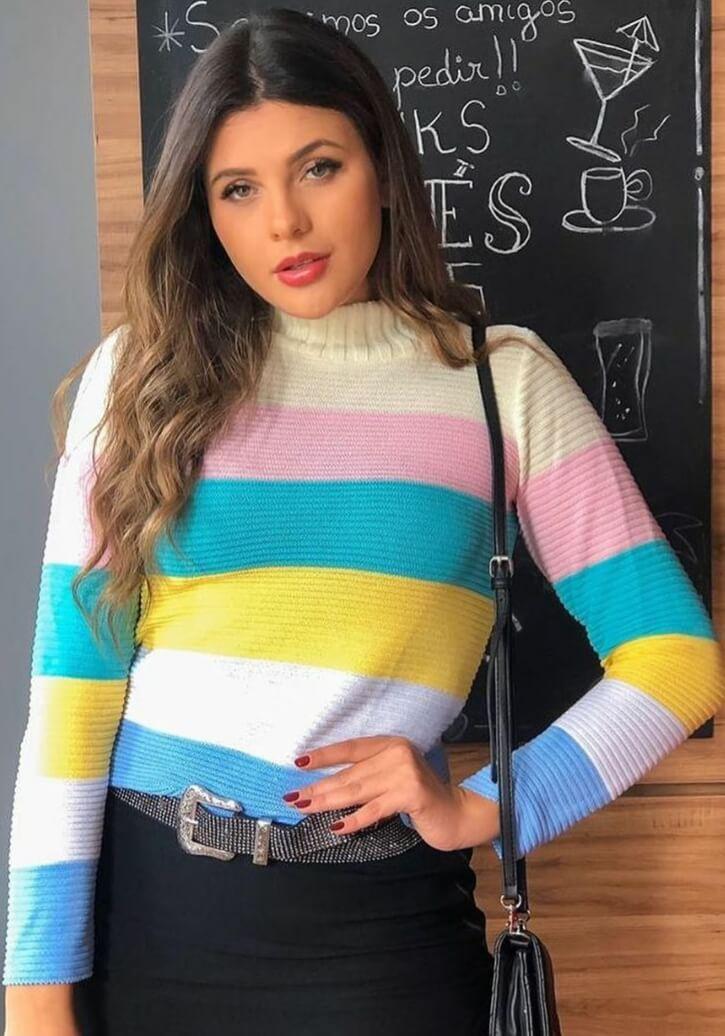 Blusa arco-íris lançamento loja do trico