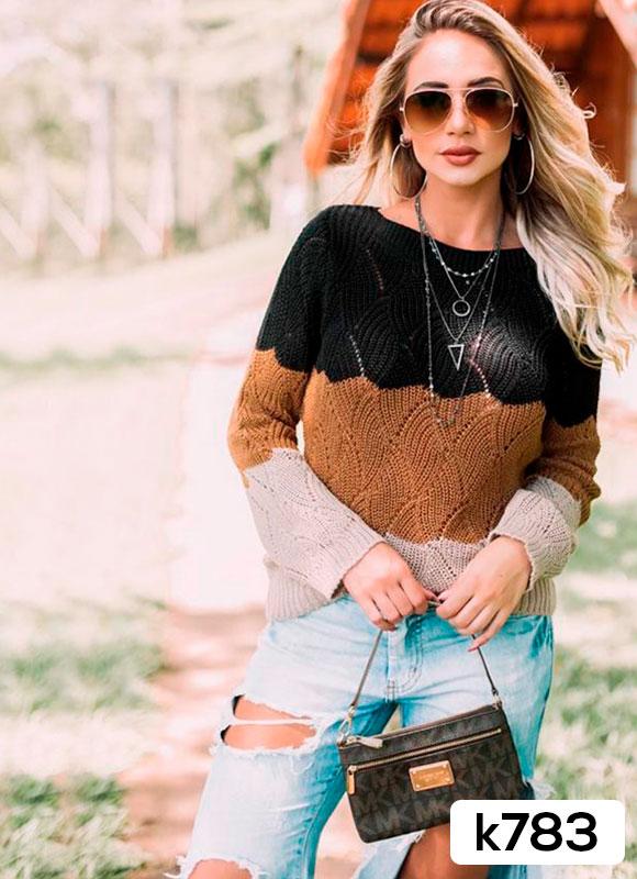blusa de frio 3 cores inverno feminino loja do tricô