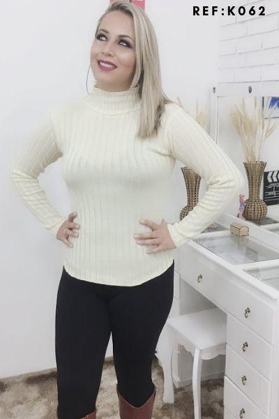 blusa de frio cacharel  gola role feminina tricot atacado
