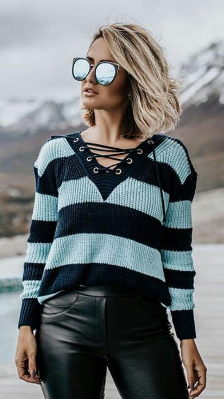 c2ee6cb847 blusa de trico - Blusas De Tricot Feminina - Marca  Loja Do Tricô ...