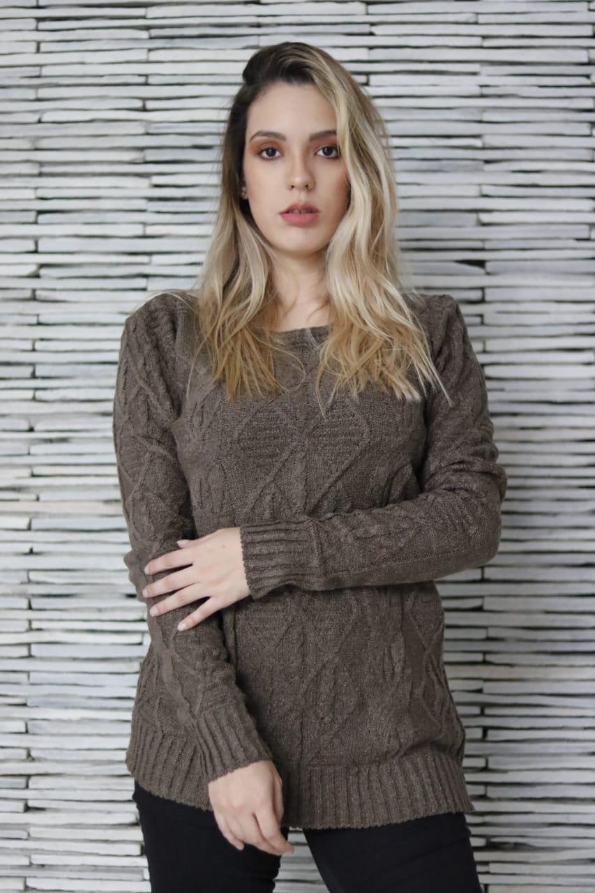 Blusa de mousse Tricot Feminina Inverno revenda