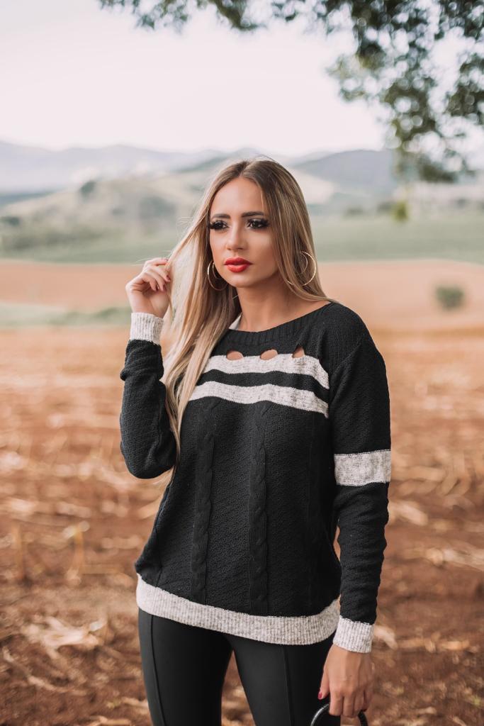 blusa de trico lançamento inverno loja do trico monte sião