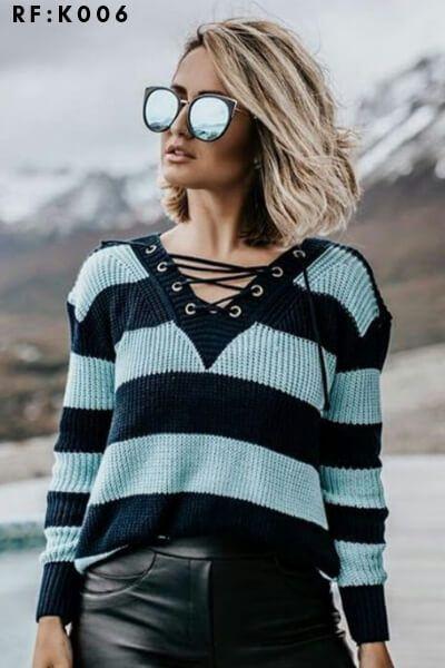 Blusa de tricot atacado direto da fabricca monte sião