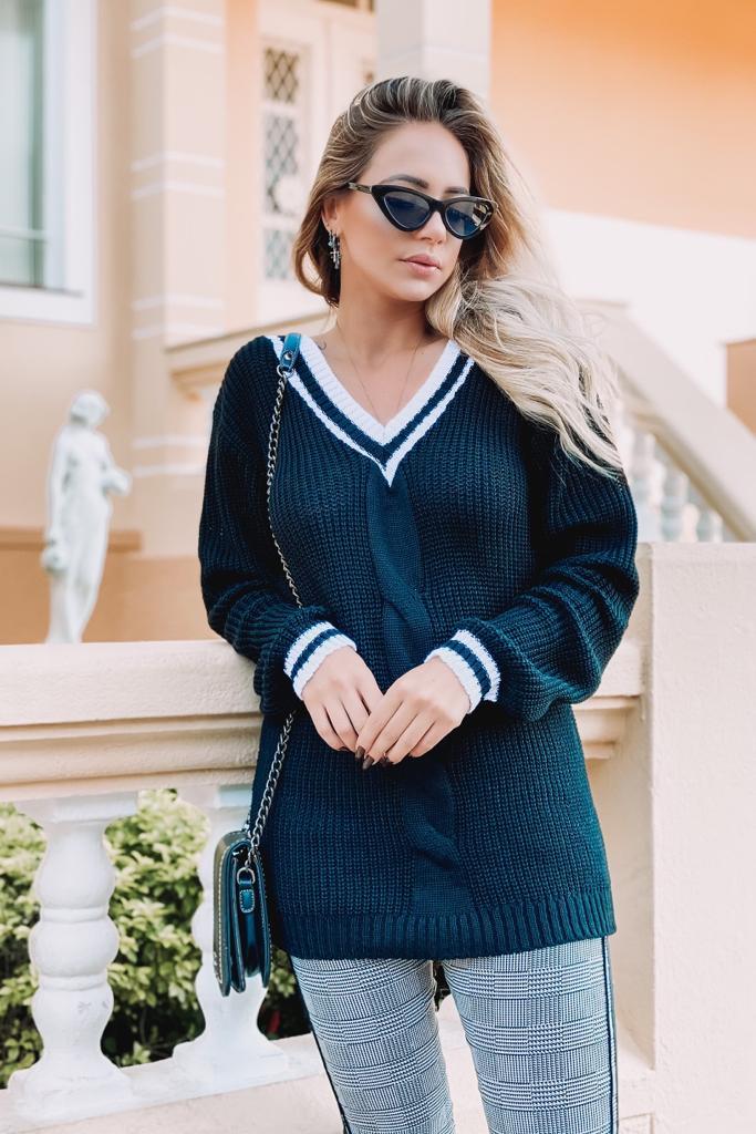 blusa de tricot inverno colegial moda blogueira monte sião