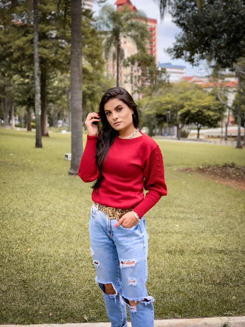 Blusa fashion manga princesa loja do tricot
