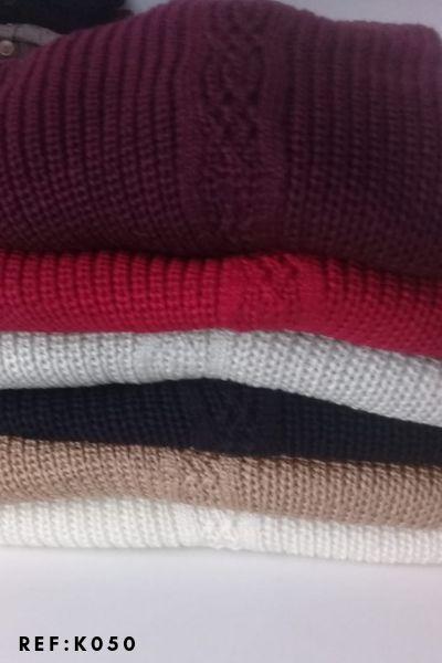 blusa lançamentos malha tricot de frio ombro aberto K237