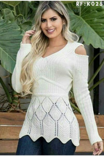 Blusa malha tricot Moda Feminina Atacado Monte Sião