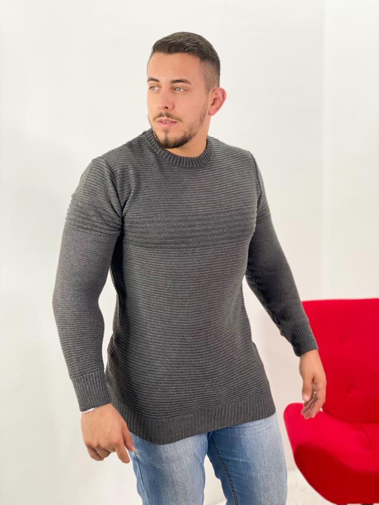 blusa masculina de frio tricot inverno loja do tricô