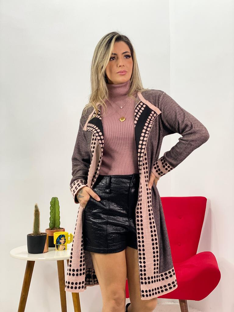 casaco cardigan tricot feminino inverno loja do trico