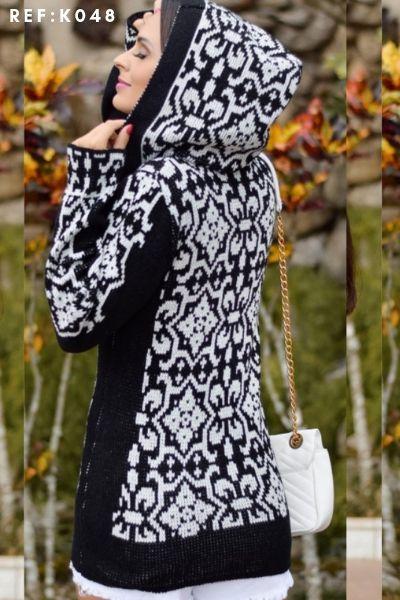 casaco de capuz frio moda blogueira atacado  K231