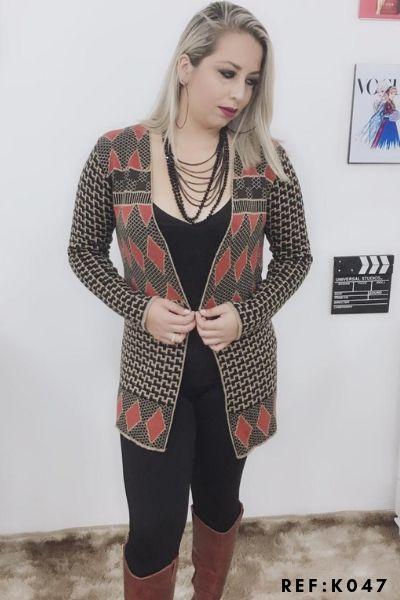 casaco de frio promoção de inverno loja do tricô K233