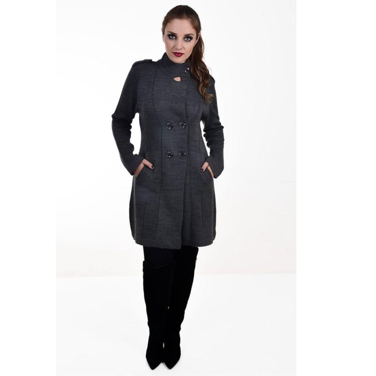 casaco de frio Sobre Tudo Tricot Manga Longa Moda Feminina K163