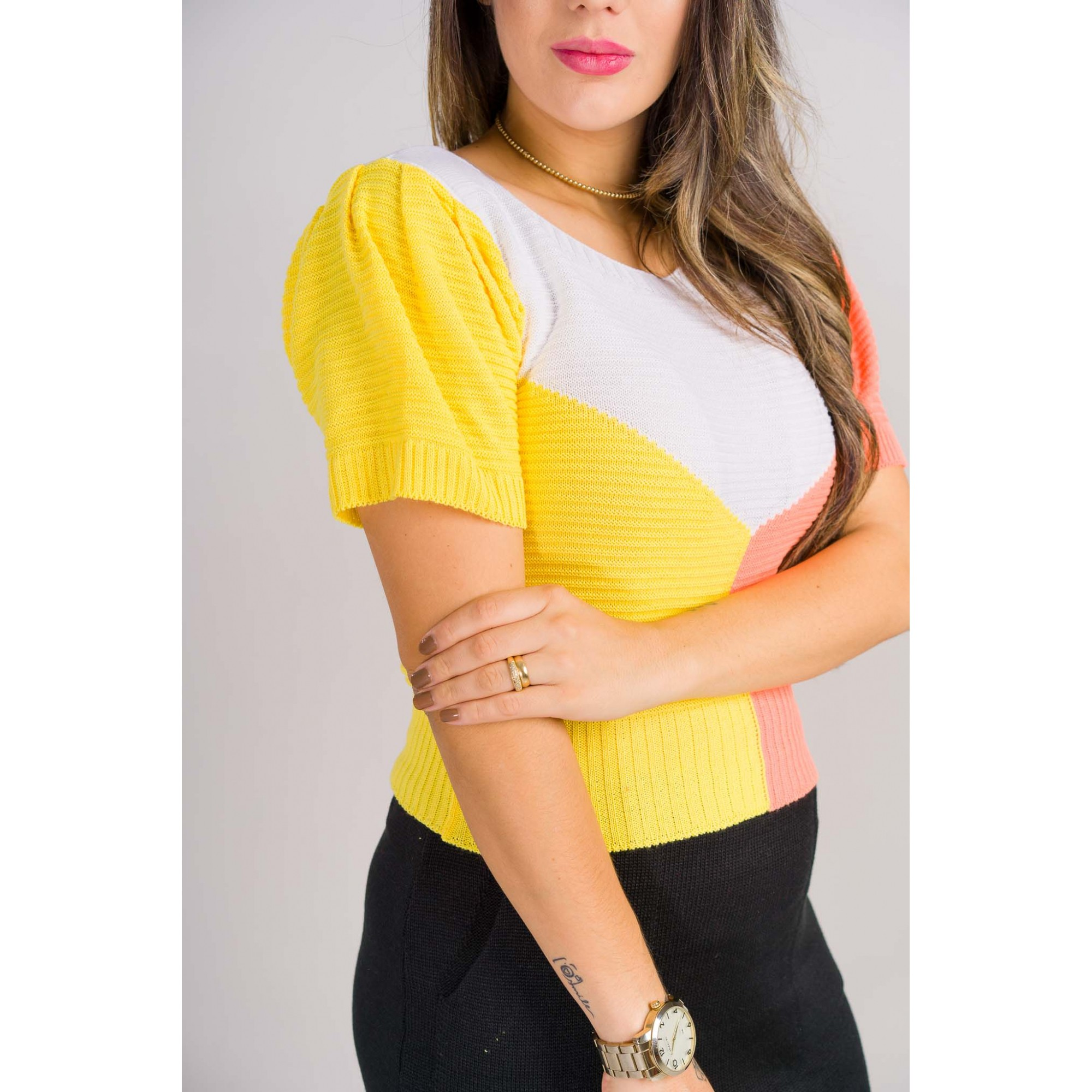 cropped tricot de verão 3 cores  loja de trico online