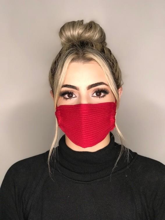 Kit 24 mascara tricot canelada viscose atacado direto da fabrica