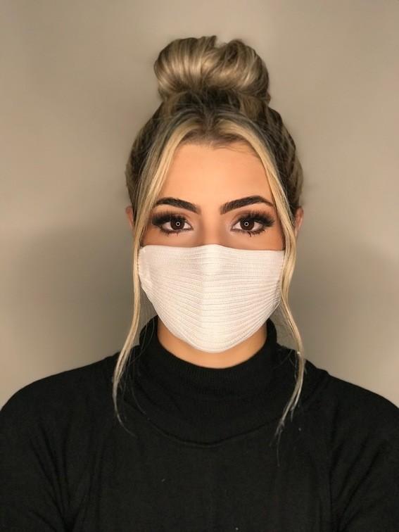 Kit 25 mascara tricot canelada viscose atacado direto da fabrica