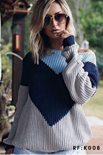 blusa de frio  tricot moda blogueira tendencia  K301