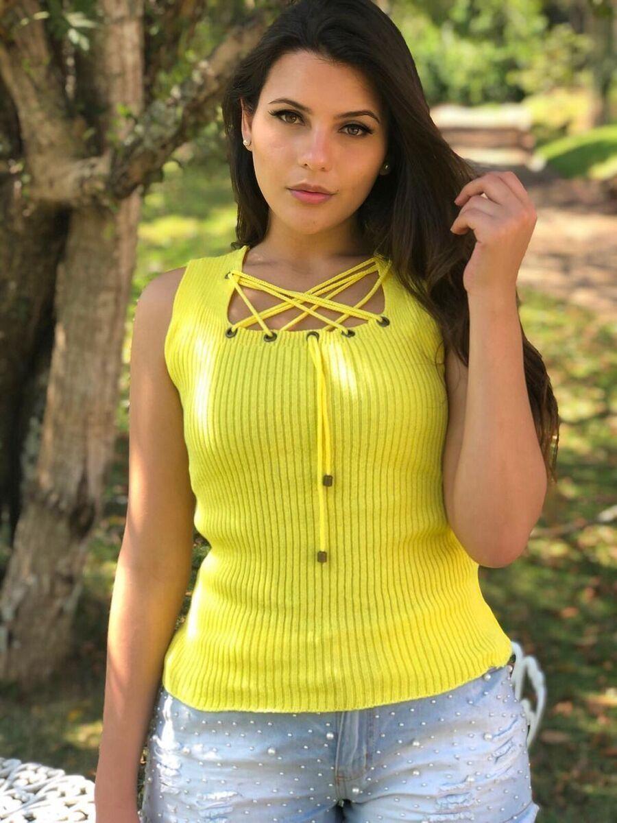 kit 3 blusinha feminina cropped blusinha tricot verão atacado k537