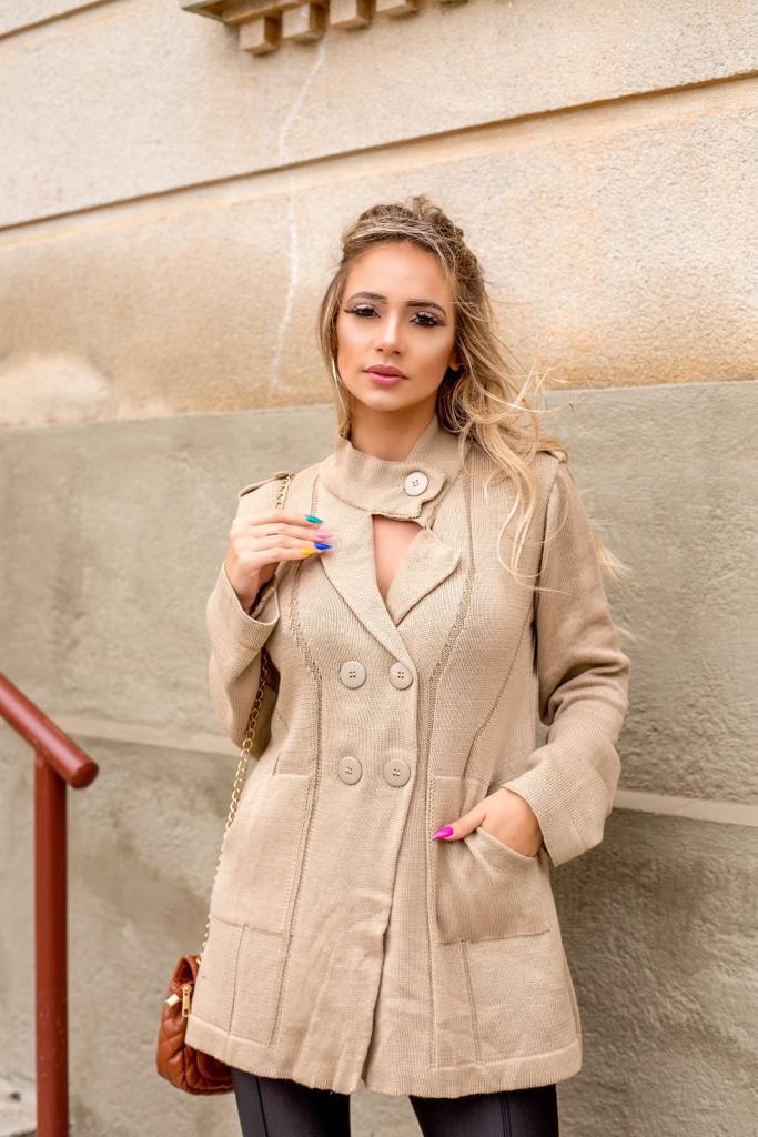 casaco cardigan moda blogueira lançamento loja do tricô