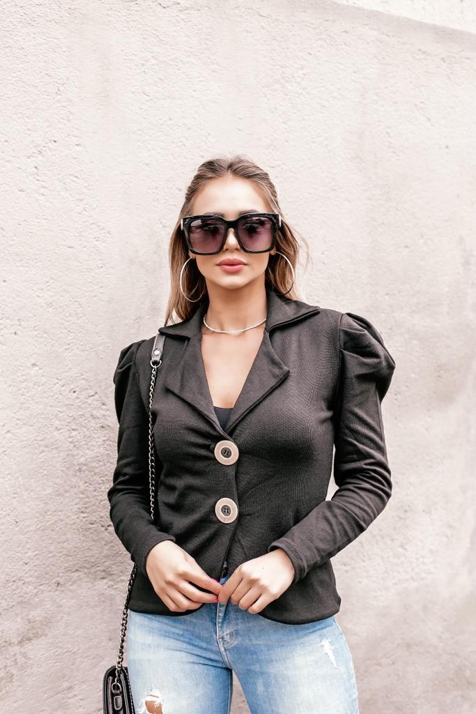 casaco alfaiataria com  elastano estilo modal lançamento