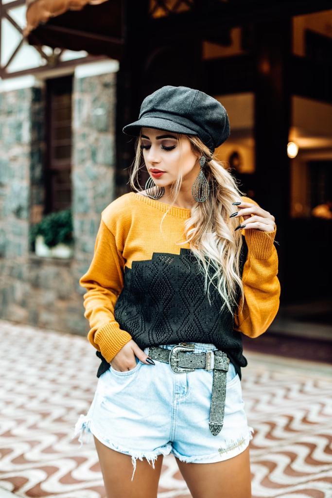 blusa de tricot inverno loja do triô direto da fábrica