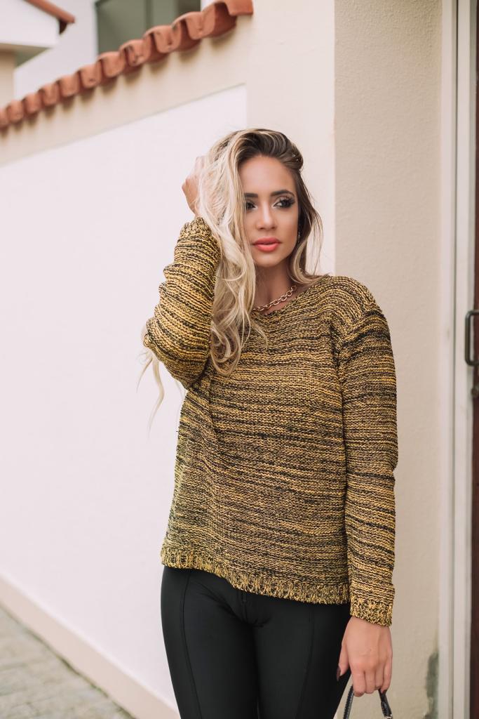 blusa de tricot tom mescla lançamento inverno loja do tricô