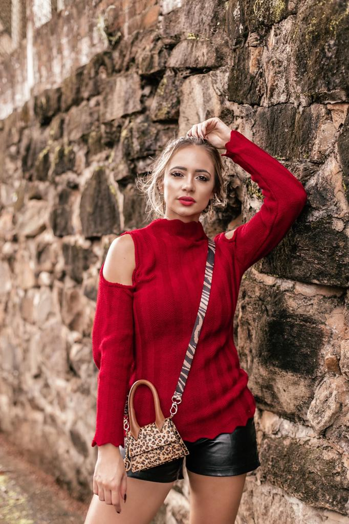 blusa tricot ombro vazado promoção de fabrica monte sião