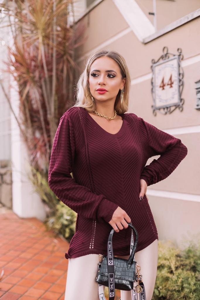 promoção loja do tricô blusa tricot lã tendencia inverno