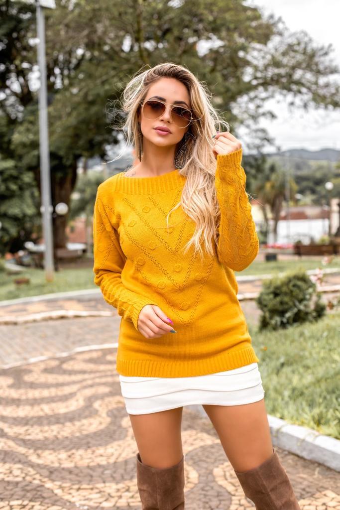 blusa moda blogueira tendencia tricot inverno atacado