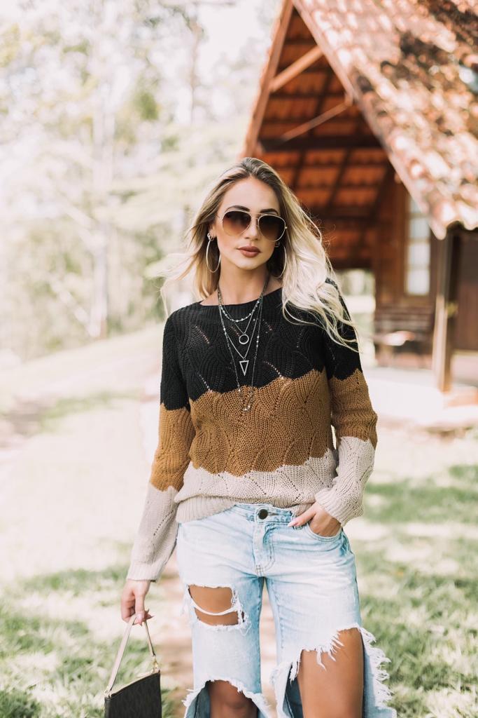 promoção blusa de tricot moda blogueira tendencia  inverno