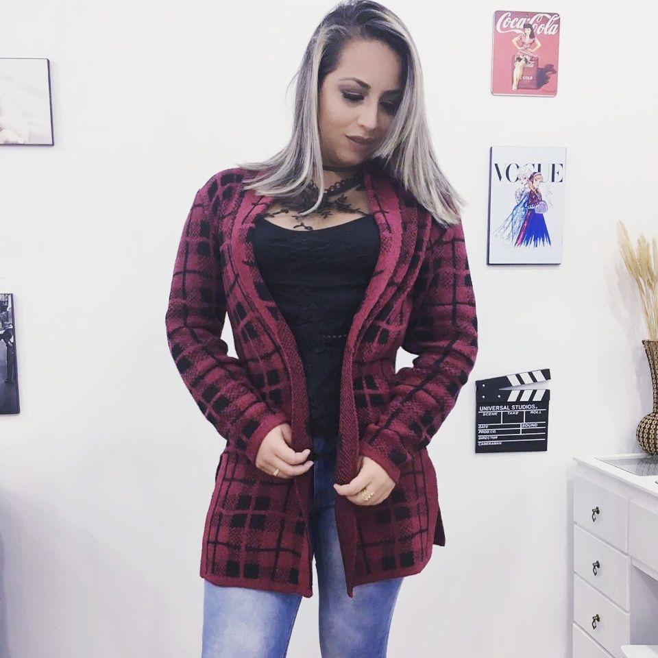6e1adfae4 casacos de tricot - - Gênero: Feminina blusas de frio lã inverno ...