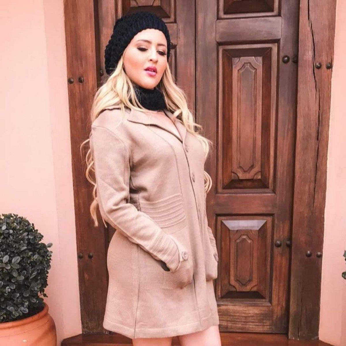 Sobre Tudo Tricot Casaco Inverno Moda Feminina K75
