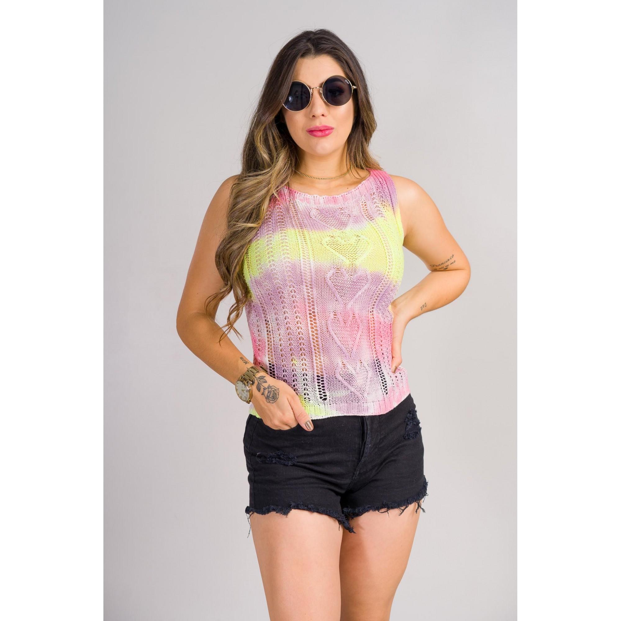 tricot de verão blusa coração tie day loja online de tricô