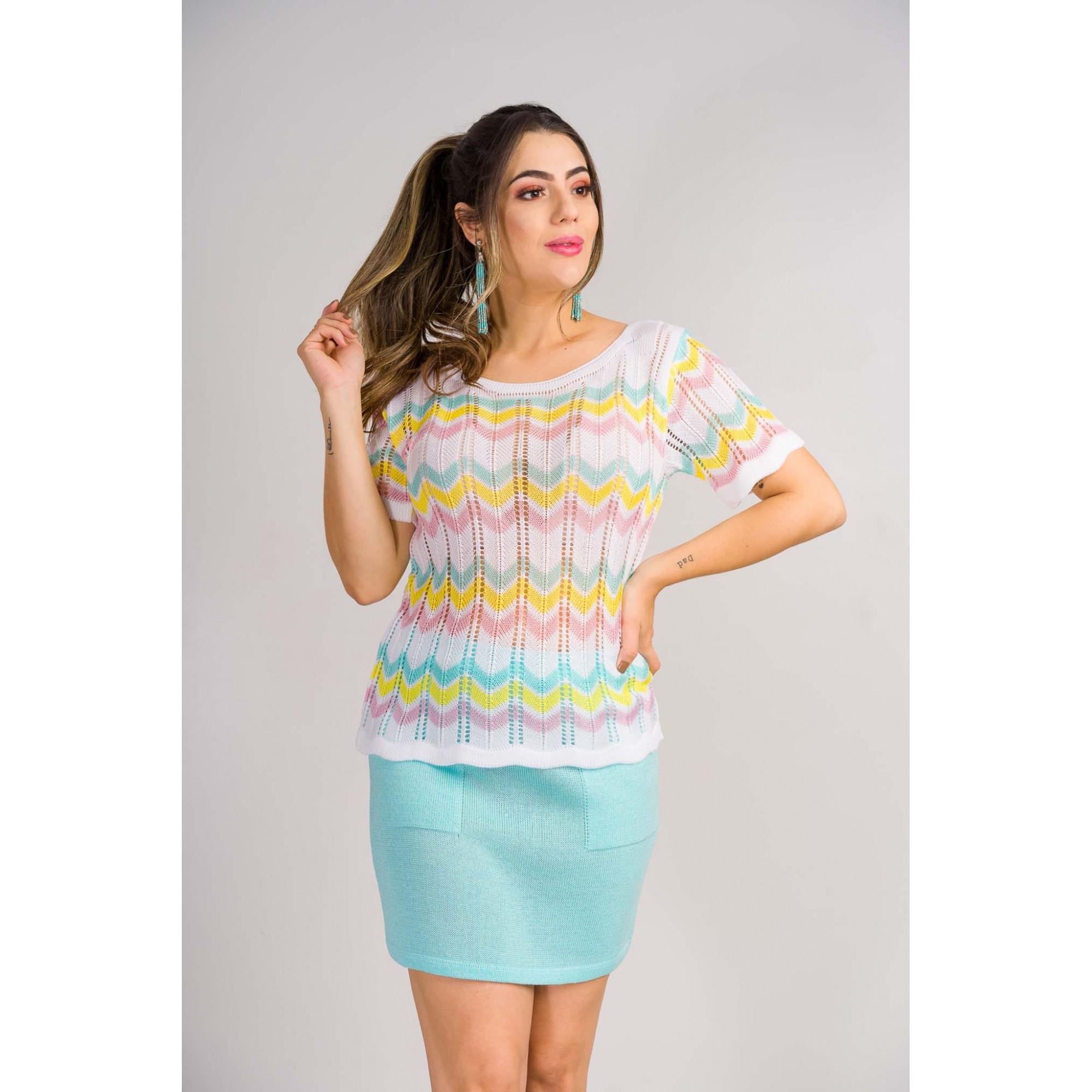tricot de verão blusa missione moda evangelica