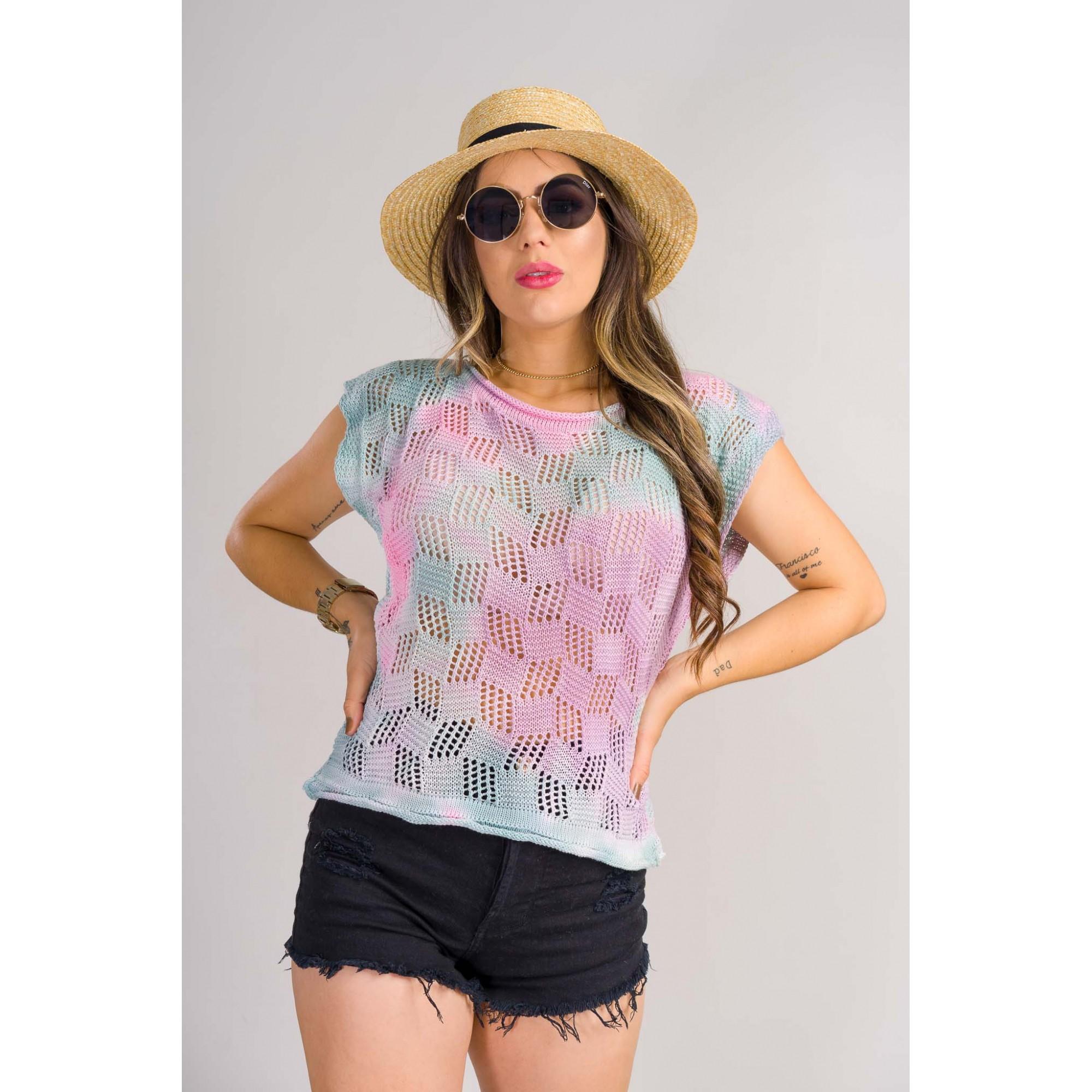 tricot de verão blusinha tie day lançamento loja do tricô