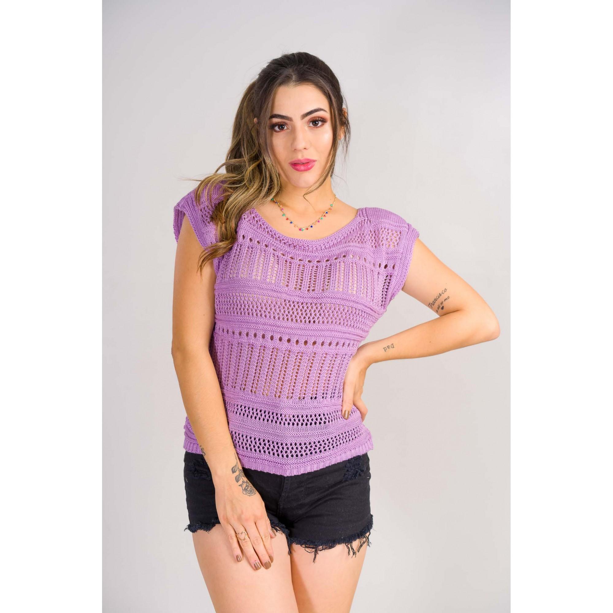 tricot de verão cropped rendado atacado direto da fabrica