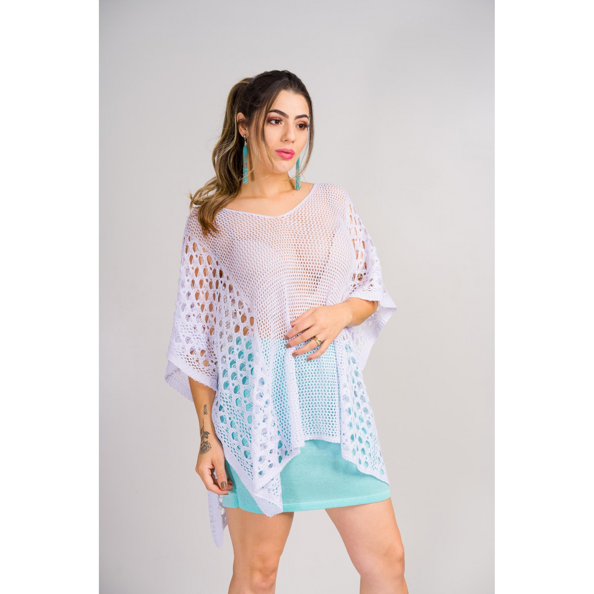 tricot de verão quimono estilo bata loja do tricô