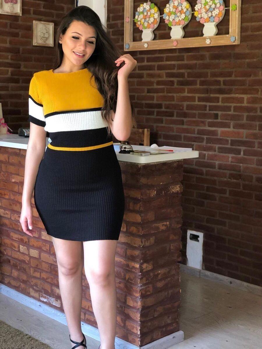 Vestido linha fria modal de verão manga curta atacado