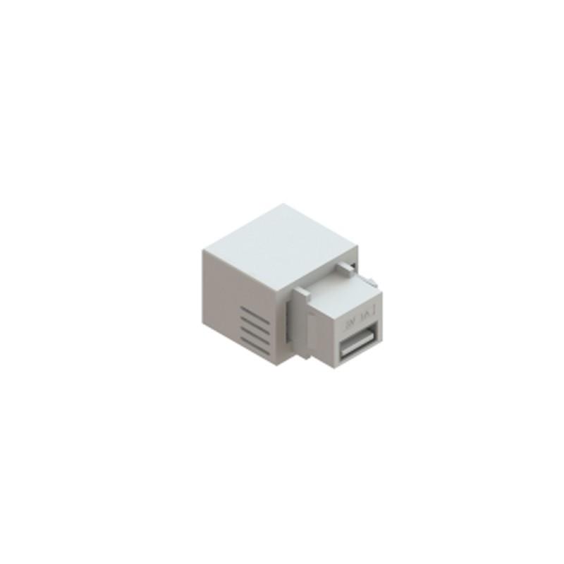 CONECTOR USB FEMEA 5V KEYSTO BRANCO QM-99082.01