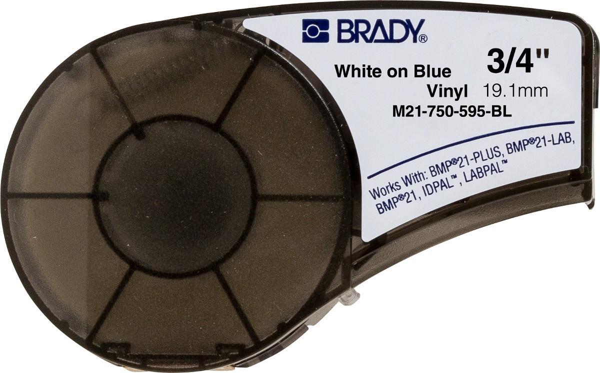 ETIQUETA M21-750-595-AZ(19,1MM X 6,4M) VINYL BRADY