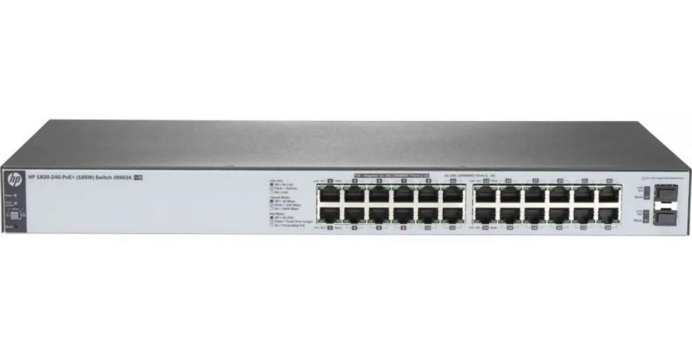SWITCH 24P 10/100/1000 + 2P SFP POE L2 GER J9983A