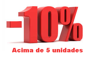 desconto 10% compras acima de 5 unidades