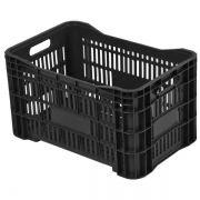 Caixa Plástica agrícola vazada - 46 litros - Preta