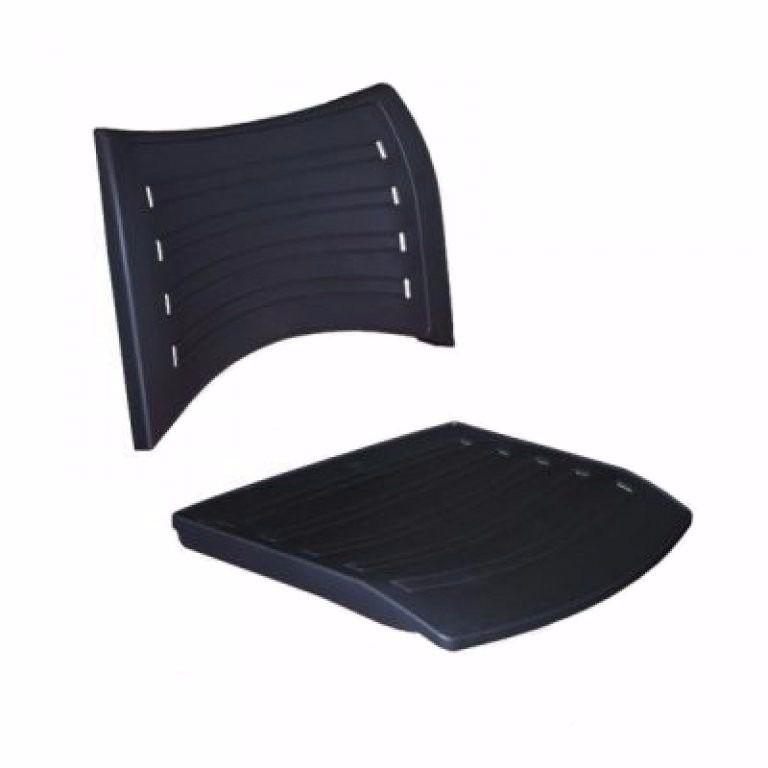 Assento e Encosto para cadeira plastica empilhável Iso Frisokar Preto