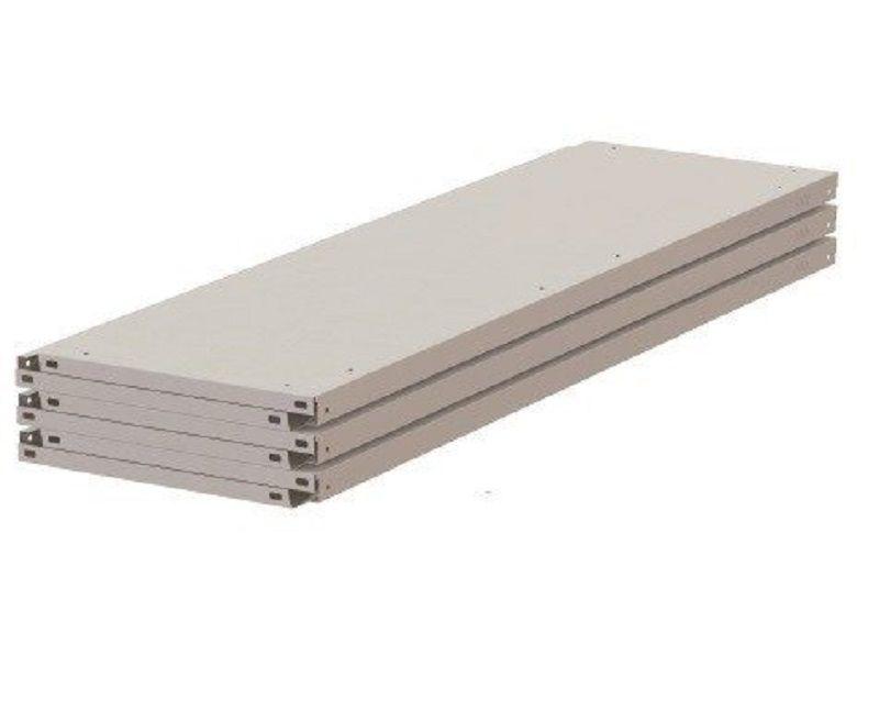 Bandeja de Aço para estante 60 cm - Caixa com 5 unidades