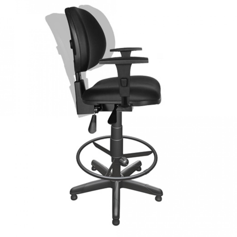 Cadeira Caixa Executiva  Alta Giratória fixa Back System regulável com Braços e apoio para pés