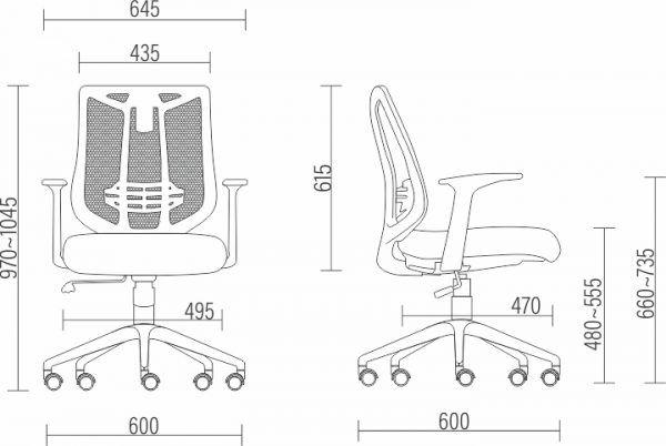 Cadeira Executiva Aika  Tela Mesh  Diretor