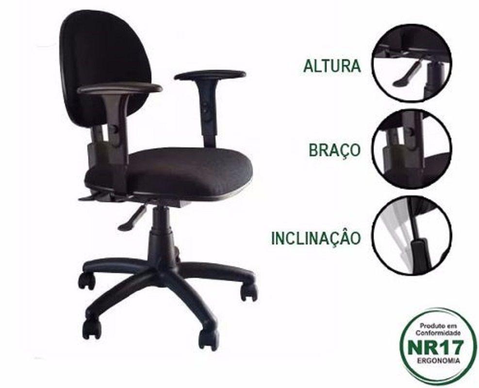 Cadeira Executiva nr 17 back system com braços  e certificado