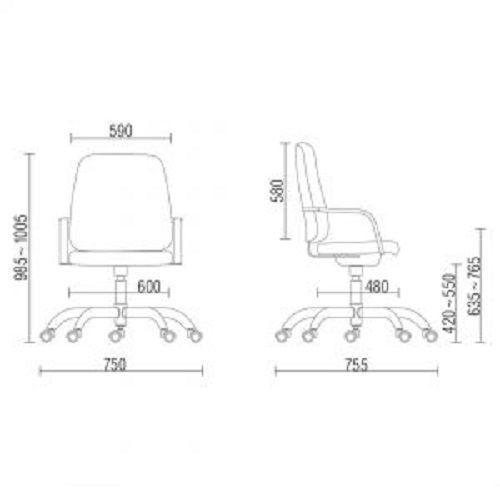 Cadeira Maxxer Giratória para alta carga Preta